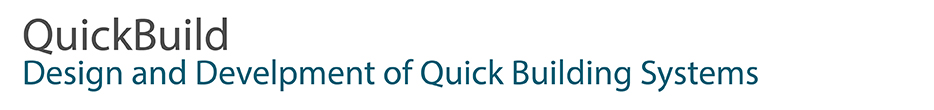 QUICKBUILD - Design and development of quick building systems